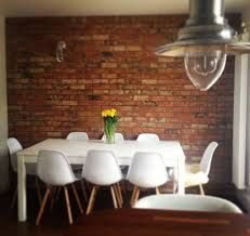 Image result for kitchen diner exposed brick wall