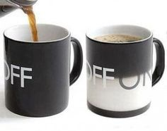 on/off coffee mug! >> So fun!