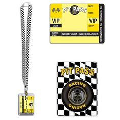 Racing Pit Pass with Lanyard Party Favors. One Racing Pit Pass contains a Plastic Sleeve and Lanyard! Great for any Racing Party Race Party, Party Kit, Party Shop, Nascar Party, Cars Party Favors, Auto Party, Race Car Themes, Race Car Birthday, Birthday Ideas