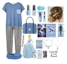 """Cinderella Travel"" by disneyfashioneveryday ❤ liked on Polyvore featuring H&M, MANGO, UGG Australia, Herschel Supply Co., OPI, Eos, Clinique, Disney, women's clothing and women"