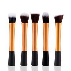 5 peças ouro / preto macio cabelo sintético profissionais práticos Kits de ferramentas de maquiagem mulheres macio escovas da composição Cosmetic Set 73818.01 em Acessórios de maquiagem de Health & Beauty no AliExpress.com | Alibaba Group