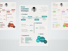 """Resume o teu """"curriculum vitae"""" editando esta infografía -- https://dribbble.com/shots/1091421-Infographic-resume-PSD"""