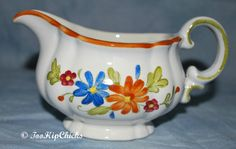 Vintage Metlox Vernon Ware Floral Creamer Made in by TooHipChicks, $9.75