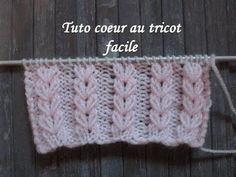 TUTO POINT COEUR AU TRICOT Heart stictch knitting CORAZON PUNTO RUSO DOS AGUJAS - YouTube