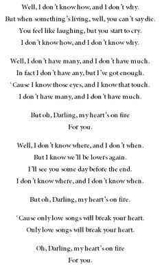 Passenger ft. Ed Sheeran - Hearts on Fire lyrics