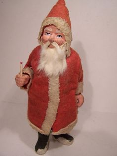 Antique German Belsnickle Santa Claus figure Germany Christmas candy container