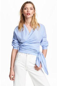 c580082384b5d Kopertowa bluzka z bawełny. Blouse ModelsShirt BlousesTie ...