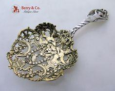 Bon Bon Spoon Figural Cherub Gorham Sterling Silver 1880