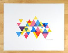 process colour triangle by desTroy