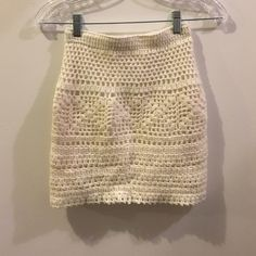 Urban Outfitters Ivory Knit Mini Skirt Pins and Needles by Urban Outfitters. Knit skit. Lined. Urban Outfitters Skirts Mini