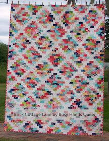 Busy Hands Quilts: Brick Cottage Lane {a PDF Pattern in 6 Sizes!}