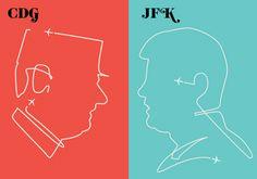 Paris VS New York.   GDG vs JFK.