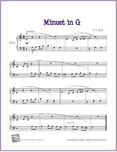 Minuet in G | Free Sheet Music for Piano