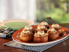 Baked Apples with Oatmeal and Yogurt Recipe : Bobby Flay : Food Network - FoodNetwork.com