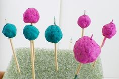 Painted paper beads // how to make paper beads out of paper pulp