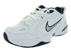 NIKE AIR MONARCH IV (MENS) - 6 White/Metallic Silver