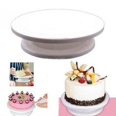 Rotating Plate Revolving Decorating Cake Turntable #baking #desserts #matchalover #foodporn #matchagreentea #cake #glutenfree #vegan