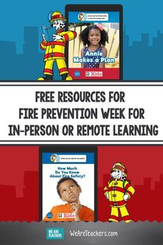 Free Resources for Fire Prevention Week for In-Person or Remote Learning. These fire safety learning resources make fire prevention week fun, engaging, and informative. There's a slidshow, choice boards, and eBooks. #ebooks #classroommanagement #supportingstudents #elementaryschool #classroom #classroomideas #teachingresources #teaching #firesafety Fire Safety For Kids, Fire Safety Tips, Classroom Behavior, Classroom Management, Fire Prevention Week, We Are Teachers, School Safety, Kids Reading, Learning Resources