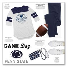 """""""60 Second Style: Penn State Game Day"""" by kellylynne68 ❤ liked on Polyvore featuring Blue 84, Madewell, Converse, Vera Bradley, football, gameday, pennstate and 60secondstyle"""