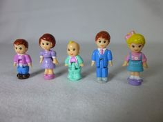Vintage Lewis Galoob Dolls Lot of 5 Figures Size of Polly Pocket Bluebird #LewisGaloob #Dolls