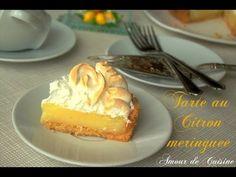 tarte au citron meringuée - Amour de cuisine Meringue, Easy Meals, Easy Recipes, Biscuits, French Toast, Favorite Recipes, Fruit, Breakfast, Sweet