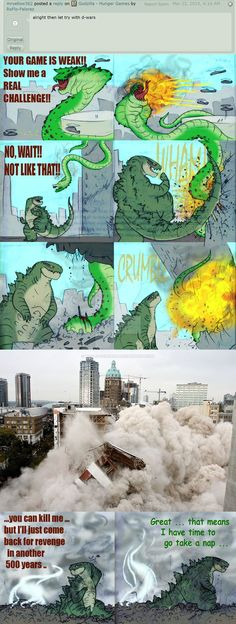 "in a way, the film was a bit of a ""magic and dragons"" version of a Transformers story ... and it feels like they kinda missed a golden opportunity to have more kaiju battles, so why not?   God..."