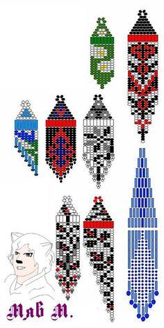 Серьги 25 орнамента   biser.info - всё о бисере и бисерном творчестве