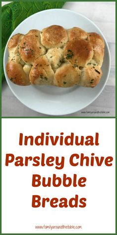 Personalized Graduation Gifts - Ideas To Pick Low Cost Graduation Offers Individual Parsley Chive Bubble Breads Is A Fun Way To Serve Bread. Dinner Dishes, Dinner Recipes, Dessert Recipes, Dinner Table, Drink Recipes, Side Dishes, Bubble Bread, Frozen Bread Dough, Recipe Creator