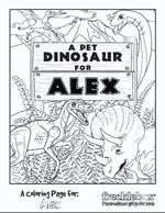 Personalized My Pet Dino Coloring Page | Frecklebox