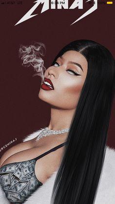 Get nicki smoke ono Nicki Baby, Nicki Minja, Nicki Minaj Barbie, Black Girl Art, Art Girl, Black Art, Nicki Minaj Wallpaper, Nicki Minaj Pictures, Trill Art