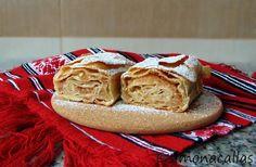 Placinta cu mere traditionala 2 Strudel, Bagel, Sweets, Bread, Ethnic Recipes, Desserts, Rome, Tailgate Desserts, Postres