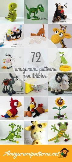 Amigurumi Patterns For Ildikko-