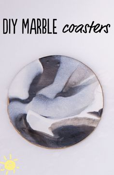 DIY marble coasters. So easy
