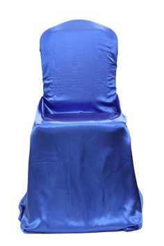 Universal Satin Self Tie Chair Cover - Royal Blue  ● As Low as $2.29 ● Available from www.cvlinens.com