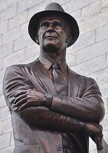 Tom Landry Statue, Cowboys Stadium, Arlington, Texas - this 9 foot tall bronze statue of Landry commemorates the legendary founding coach of the Dallas Cowboys. He brought the team from a winless first season into a dominating force in the NFL. Under Landry, the Cowboys became America's team, with a mystique that transcended the sports community and Texas.