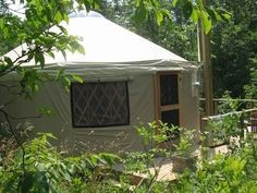 This dude lives full-time in his yurt with solar power. Sounds pretty nice.