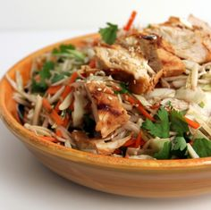 The Growing Foodie: Weeknight Dinner: Grilled Ginger-Sesame Chicken Salad Asian Recipes, Healthy Recipes, Ethnic Recipes, Great Recipes, Favorite Recipes, Yummy Recipes, Sesame Chicken, Tasty Dishes, Thai Dishes