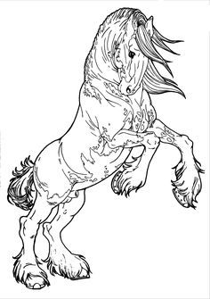 Patterned Clydesdale by AppleHunter.deviantart.com on @deviantART Horse Coloring Pages, Easy Coloring Pages, Printable Coloring Pages, Kids Coloring, Horse Rearing, Clydesdale Horses, Art Quilling, Horse Pattern, Horse Drawings