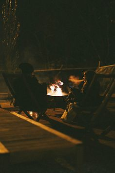Long conversations with a close friend and a bonfire. One of my favorite things to do