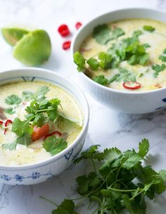 thaisuppe kylling kokosmælk Best Healthy Soup Recipe, Healthy Dinner Recipes, Real Food Recipes, Food Crush, Vegan Meal Prep, Fabulous Foods, Arugula, Asian Recipes, Food Inspiration