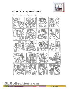 picture series for infogap French Teacher, Teaching French, Teaching Spanish, Teaching English, Story Sequencing, French Verbs, Verb Worksheets, Core French, Language And Literature