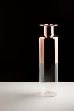 Tapio: Glass Vases with Copper Accents in home furnishings  Category