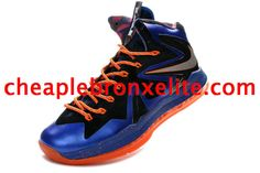official photos 97de4 fff63 Nike Lebron X PS Elite Series Superhero Pure Platinum Navy Blue Orange  579827 400 Nike Free