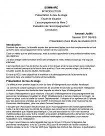 Etude De Situation Dc3 Ca Soanjara Aide Soignante Introduction Dissertation Francai Exemple