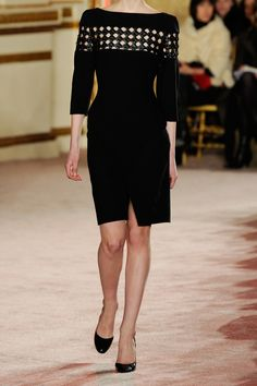 Thakoon|Woven leather-detailed wool-blend dress
