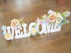 お花のウエルカムオブジェ・プリンセスイエロー - アトリエ yuki Diy Flowers, Flower Decorations, Wedding Decorations, Hipster Wedding, Wedding Initials, Wedding Clip, Wedding Reception Flowers, Wedding Welcome, Paper Roses