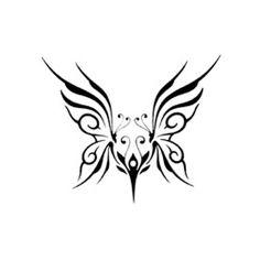 Small tribal butterfly tattoo - Here my tattoo