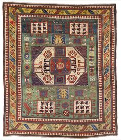 A Karachopt Kazak rug, Southwest Caucasus, approximately 7ft. 2in. by 6ft. 1in. (2.18 by 1.85m.), mid-19th century [sold for $43,750]