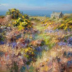 British Artist Rex PRESTON-Spring Day, West Cornwall