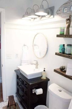 A bathroom after an extreme makeover